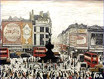 Lowry's painting of London's Piccadilly Circus