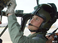 Prince William in helicopter