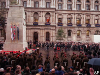 Remembrance ceremony at The Cenotaph