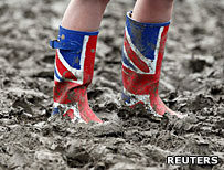 Union Jack wellington boots