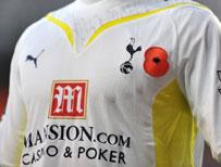 Tottenham shirt with poppy