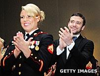 Kelsey De Santis and Justin Timberlake