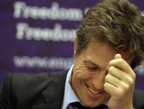 Hugh Grant, actor and Hacked Off campaigner