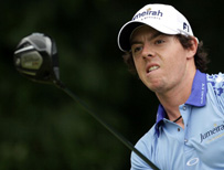 Rory with gold club