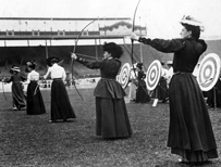 Women archers at the 1908 Games