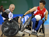 Mark Zupan of the USA (L) and Alan Ash of Great Britain
