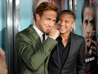 George Clooney with co-star Ryan Gosling