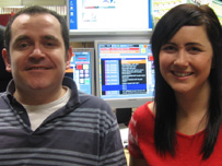 Craig Hutchison and Rachael Connors