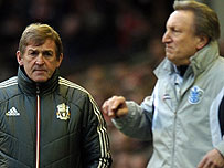 Liverpool manager Kenny Dalglish and QPR boss Neil Warnock