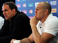 England manager Martin Johnson and former captain Mike Tindall