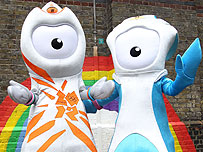 Paralympic mascot Mandeville (right) was named after Stoke Mandeville