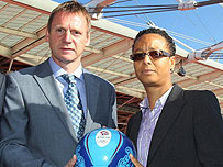 Stuart Pearce and Hope Powell will manage the GB football teams at the Olympics