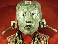 Jade mask of Mayan King Paka
