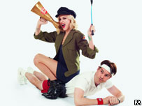 Fearne Cotton and Jimmy Carr