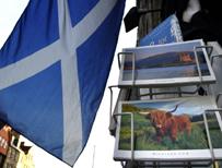 Postcards for sale on Edinburgh's Royal Mile