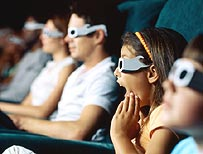 Children watching a film