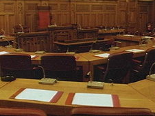 inside council chamber
