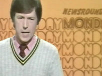 John Craven presenting a 1970s edition of Newsround