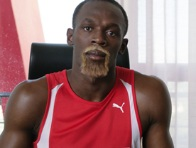 Usain Bolt sporting a blonde beard