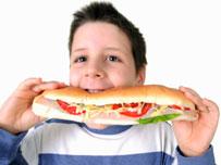 Boy with a sandwich