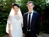 Mark Zuckerberg and Precilla Chan
