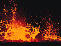 Artist's impression of lava