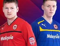 New Cardiff City home and away strips
