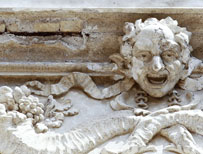Detail of Trevi Fountain