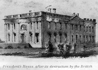 The White HOuse after its destruction by the British