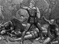 Illustration of Henry V at Agincourt