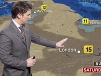 A BBC weather forecaster