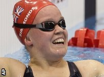 Ellie Simmonds in the pool