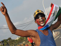 A football fan in Equatorial Guinea during the Africa Nations Cup 2012 (AFP)
