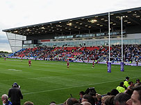 A rugby stadium