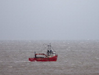 Fishing trawler off Norfolk coast