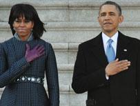 Obama taking the oath