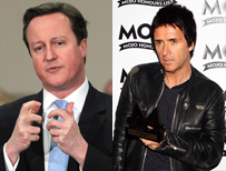 David Cameron and Johnny Marr from The Smiths