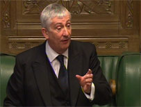Deputy Speaker Lindsay Hoyle in the House of Commons