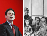 David Milliband and Thunderbirds cast