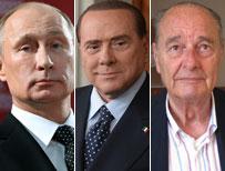 Putin, Berlusconi, Chirac