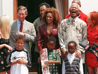 Spice Girls with Nelson Mandela and Prince Charles