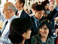 People on public transport