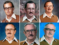 Teacher's yearbook photos