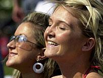 Two women enjoying the sun