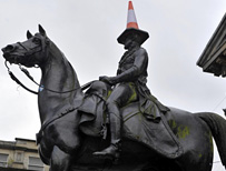 Duke of Wellington statue in Glasgow