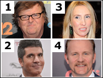 Michael Moore, Simon Cowell, Sam Taylor-Johnson and Morgan Spurlock