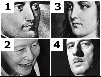 Napoleon, Simone de Beauvoir, Joan of Arc, Charles de de Gaulle