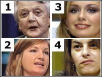 Angela Lansbury, Karren Brady, Katherine Jenkins and Tracey Emin