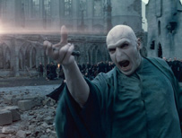 Ralph Fiennes as Voldemort in Harry Potter and the Deathly Hallows: Part 2