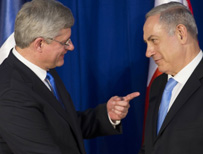 Stephen Harper and Benjamin Netanyahu